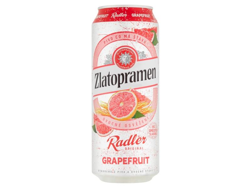 Zlatopramen Radler Grapefruit 0,5l, plech