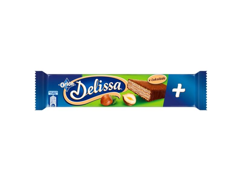 ORION Delissa Plus oplatka s lískooříškovou náplní v mléčné čokoládě 44g