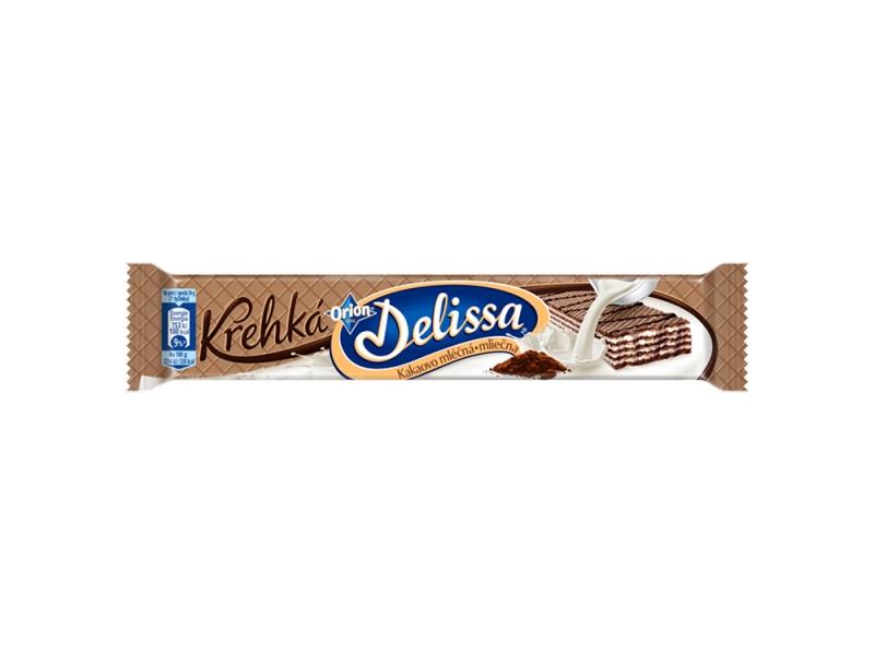 ORION Delissa Křehká kakaová s mléčnou náplní 34g