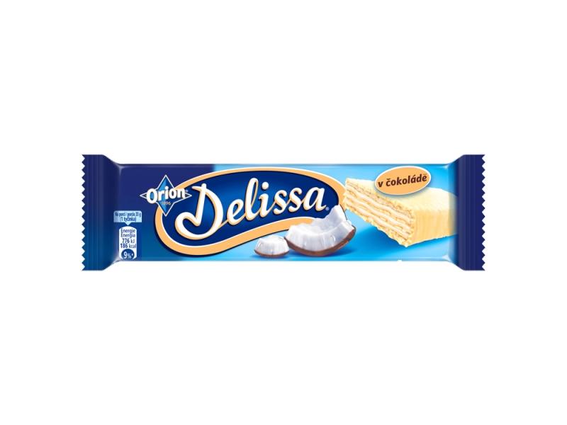 ORION Delissa s kokosovou náplní máčená v bílé čokoládě 33g