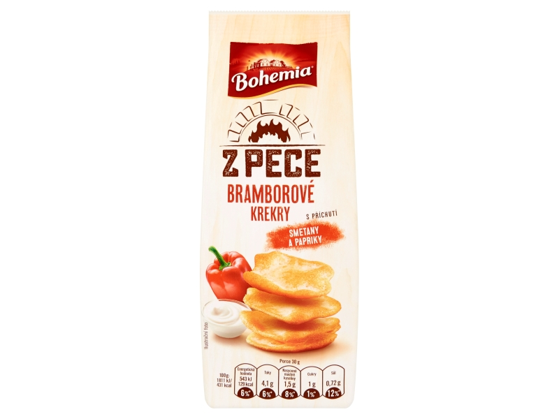 Bohemia Z pece bramborové krekry s příchutí smetany a papriky 100g