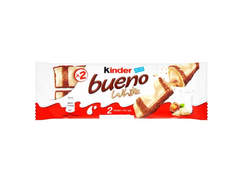 Kinder Bueno White v polevě z bílé čokolády 39g
