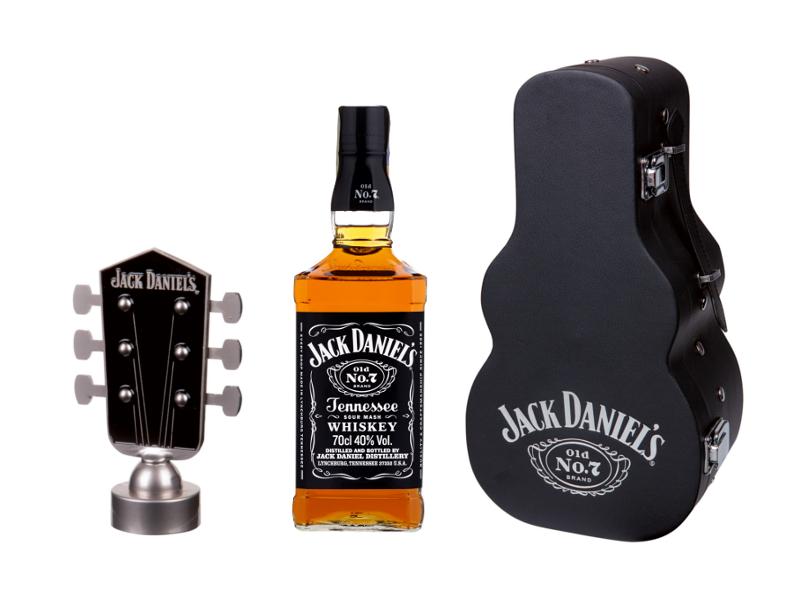 Jack Daniel´s Tennessee Whiskey Kytara 40% 700ml, dárkový set