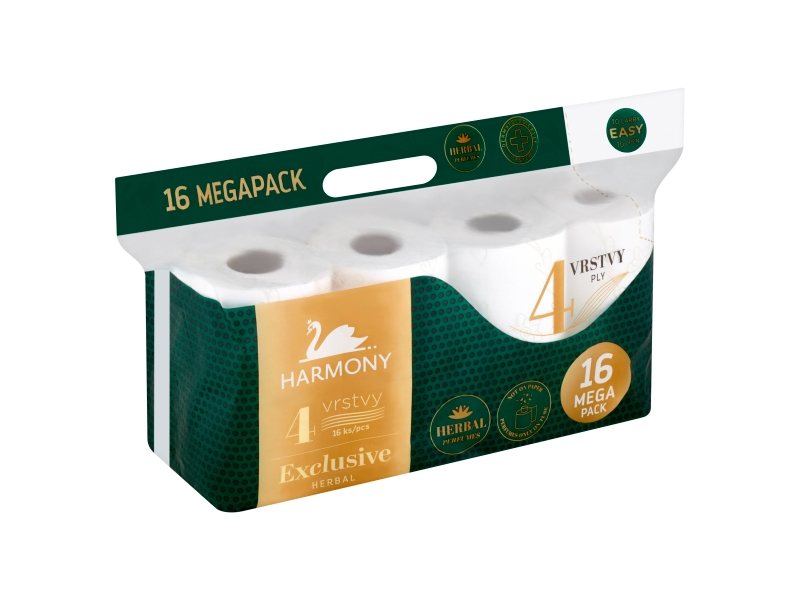 Harmony Exclusive Herbal toaletní papír 4 vrstvy 16 ks