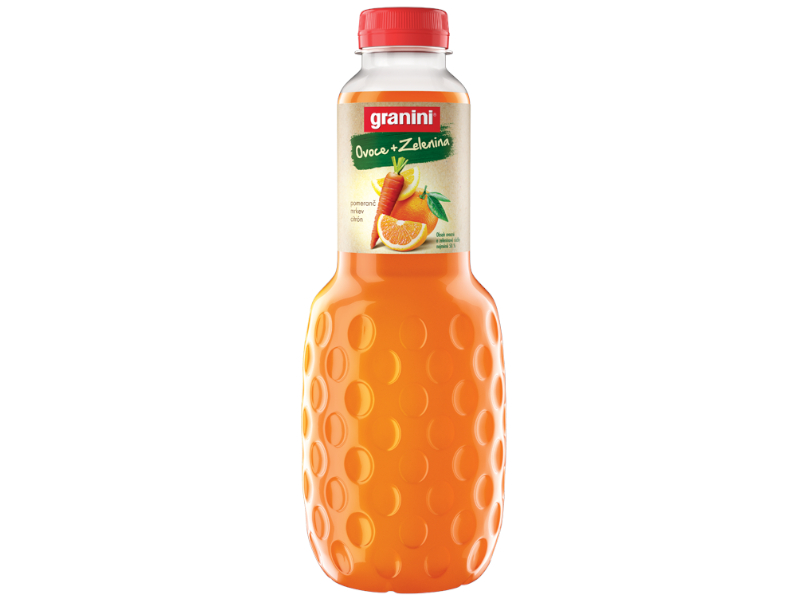 Granini Pomeranč, mrkev, citrón 1l, PET