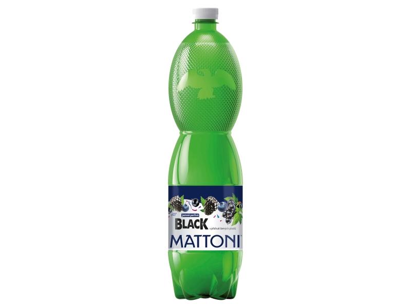 Mattoni Black s příchutí černých plodů jemně perlivá 1,5l