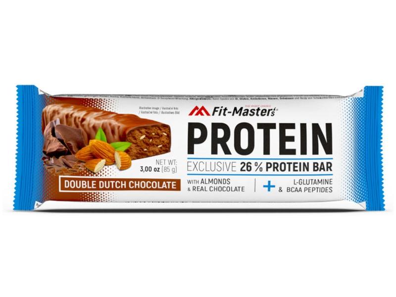 Fit-Master´s Proteinová tyčinka Dvojitá čokoláda s mandlemi 85g