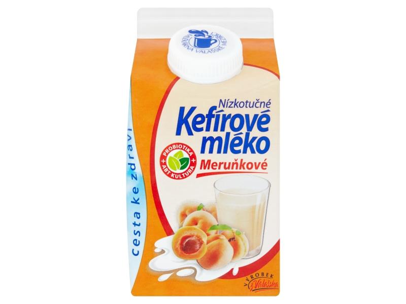 Mlékárna Valašské Meziříčí Kefírové mléko nízkotučné meruňkové 0,8% 450g