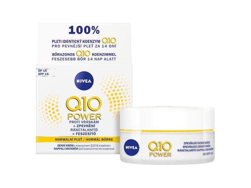 Nivea Q10 Power Zpevňující denní krém proti vráskám OF 15, 50ml
