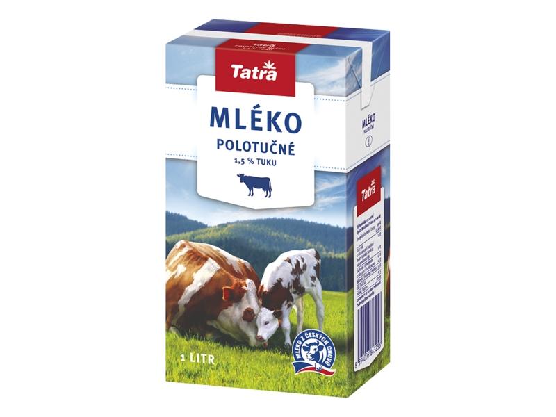 Tatra Trvanlivé mléko polotučné 1,5% 1l