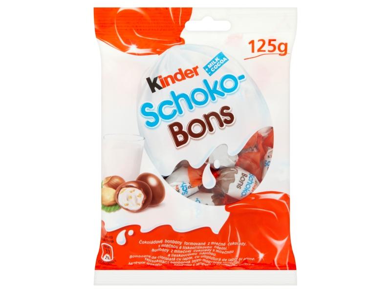 Kinder Schoko-Bons čokoládové bonbony s náplní 125g
