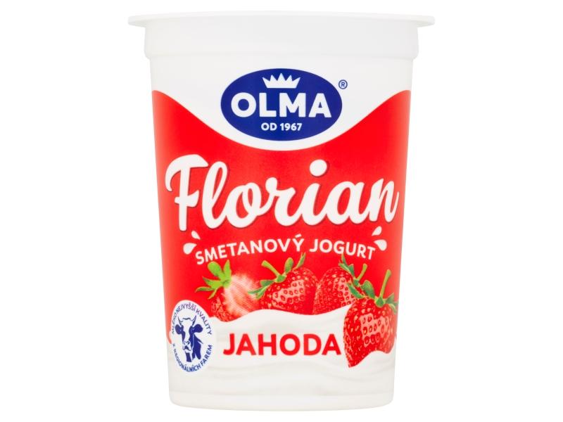 Olma Florian Smetanový jogurt jahodový 150g