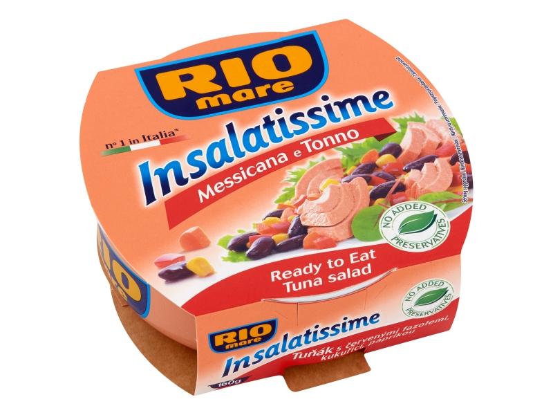 Rio Mare Insalatissime Tuňák s červenými fazolemi, kukuřicí, paprikou 160g