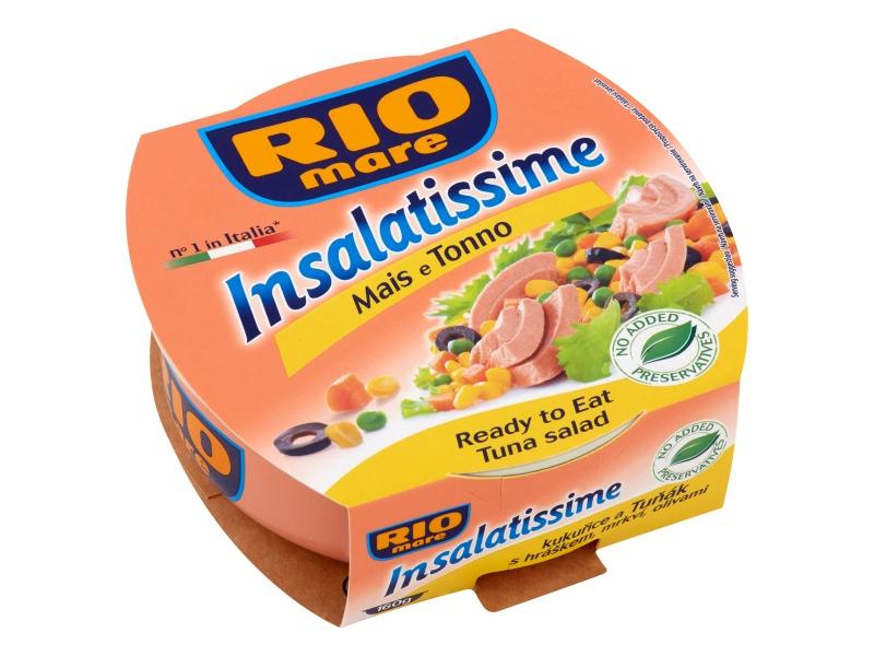 Rio Mare Insalatissime Kukuřice a Tuňák s hráškem, mrkví, olivami 160g