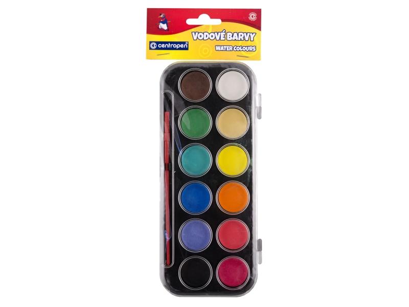 Barvy vodové Centropen 12 barev