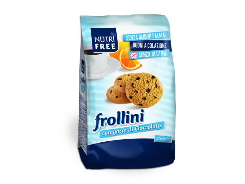 Nutrifree Sušenky Frollini s kousky čokolády 250g