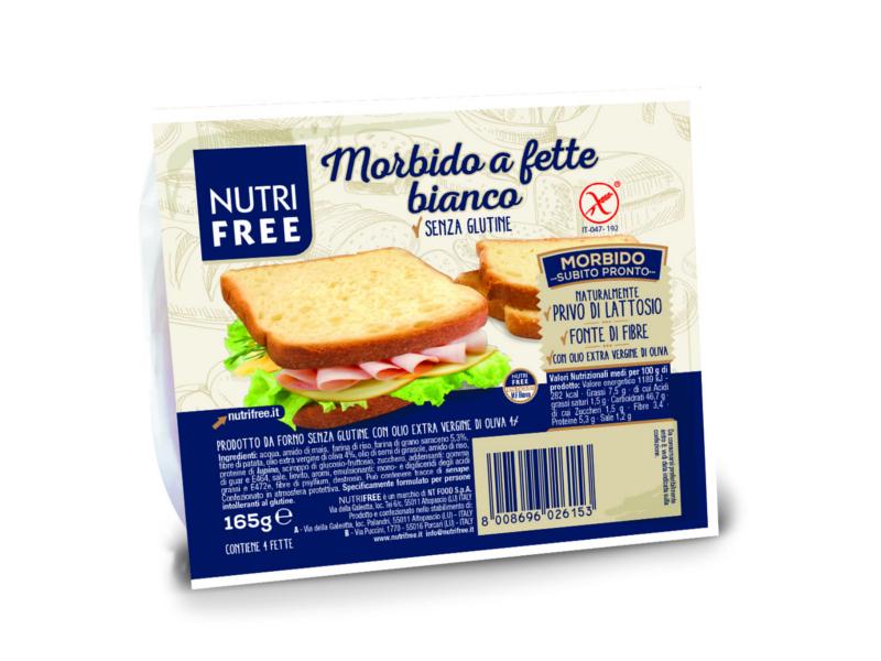 Nutrifree Toastový světlý chléb 165g