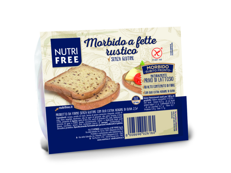 Nutrifree Toastový chléb celozrnný 165g