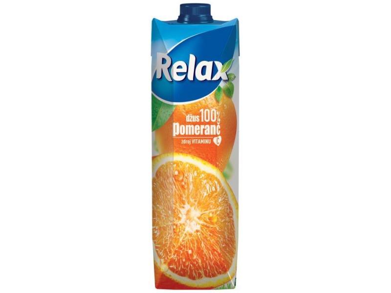 Relax Džus 100% Pomeranč 1l