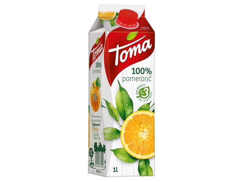 Toma 100% pomeranč 1l