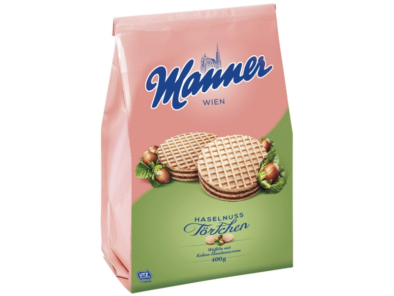 Manner Haselnuss Tortchen Dortíky 400g