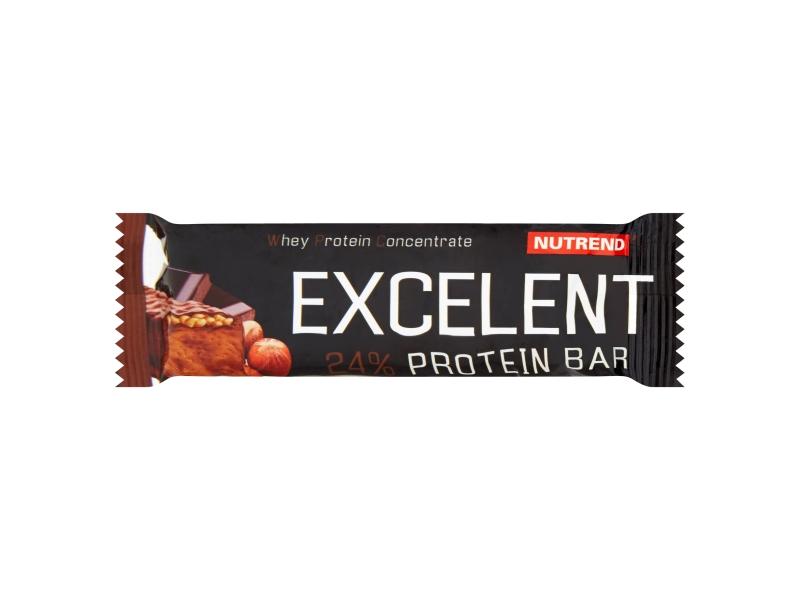 Nutrend Excelent Protein bar příchuť čokoládová s oříšky 40g