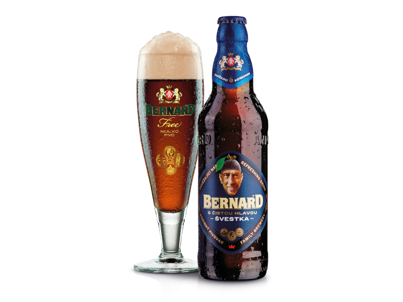 Bernard S čistou hlavou Švestka nealko pivo 0,5l
