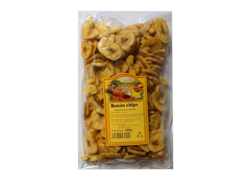 JTT Banán chips sušené ovoce 200g