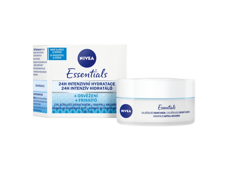 Nivea Essentials Zvláčňující denní krém normální až smíšená pleť 50ml