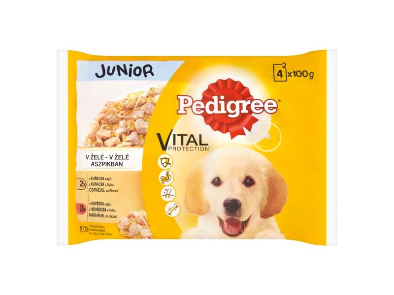 Pedigree Junior Kuřecí a krůtí maso ve šťáve 4x100g